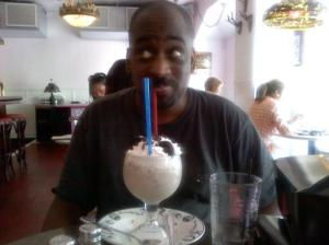 Mark with Frozen Hot Chocolate