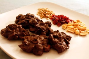 chocolate trail mix clusters