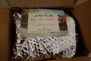 July Foodie Penpal Package Note