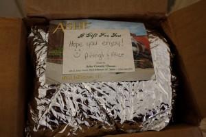 July Foodie Penpal Package Note