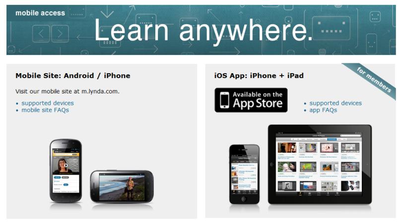 lynda.com mobile