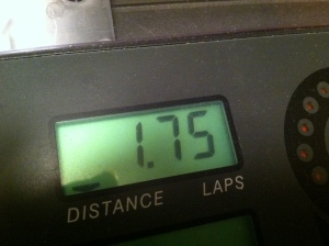 Back on treadmill distance