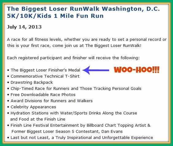 Biggest Loser Run DC Rewards