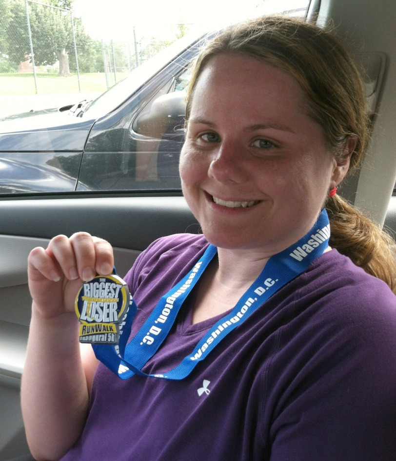 Megan Biggest Loser 5k Finisher Medal