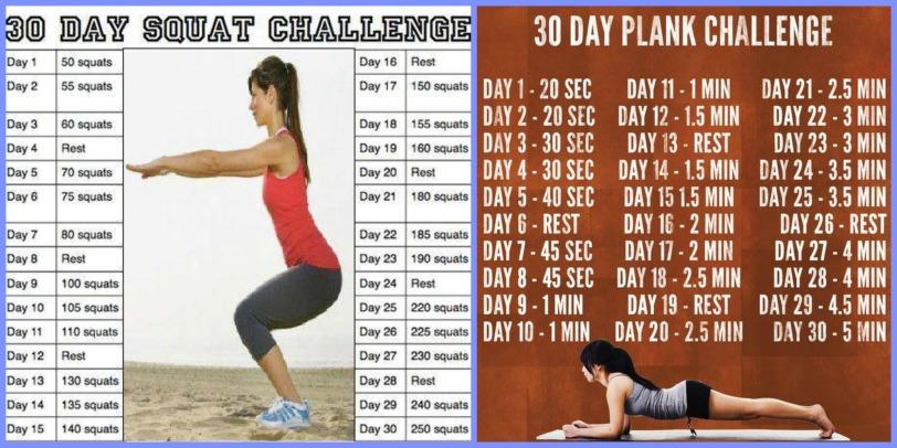 Squat Plank Challenge