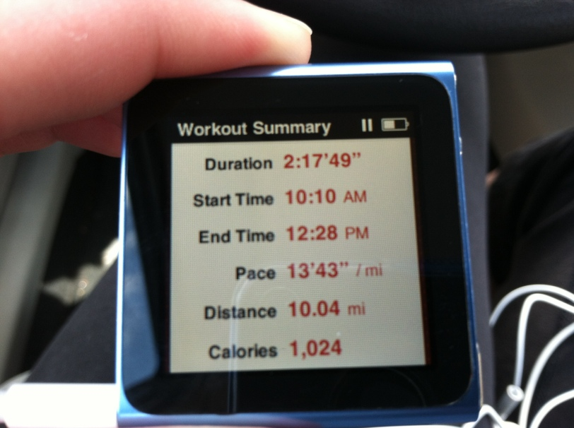 10 miles completed