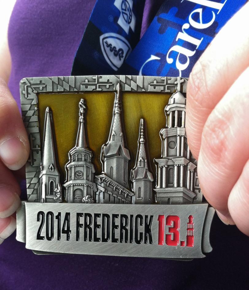 2014 Frederick Half Marathon finisher medal